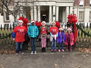 ES Kids in front of Jacobs Hall